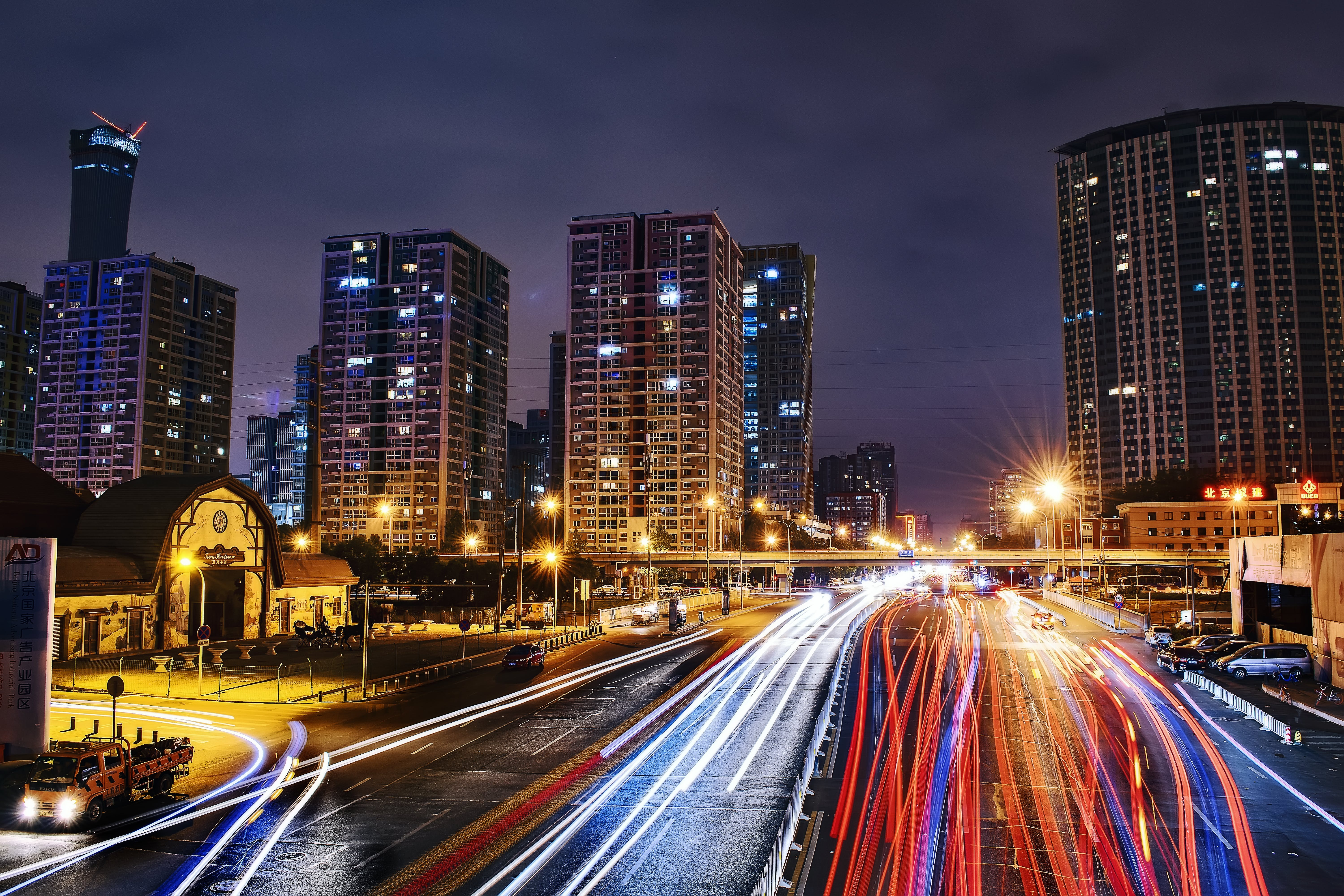 Time Lapse Photography of City Road at Nighttime