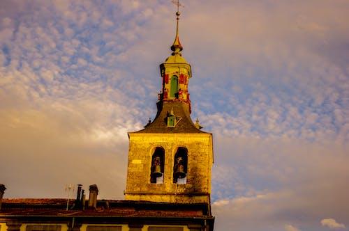 Foto profissional grátis de campanario, cielo, iglesia