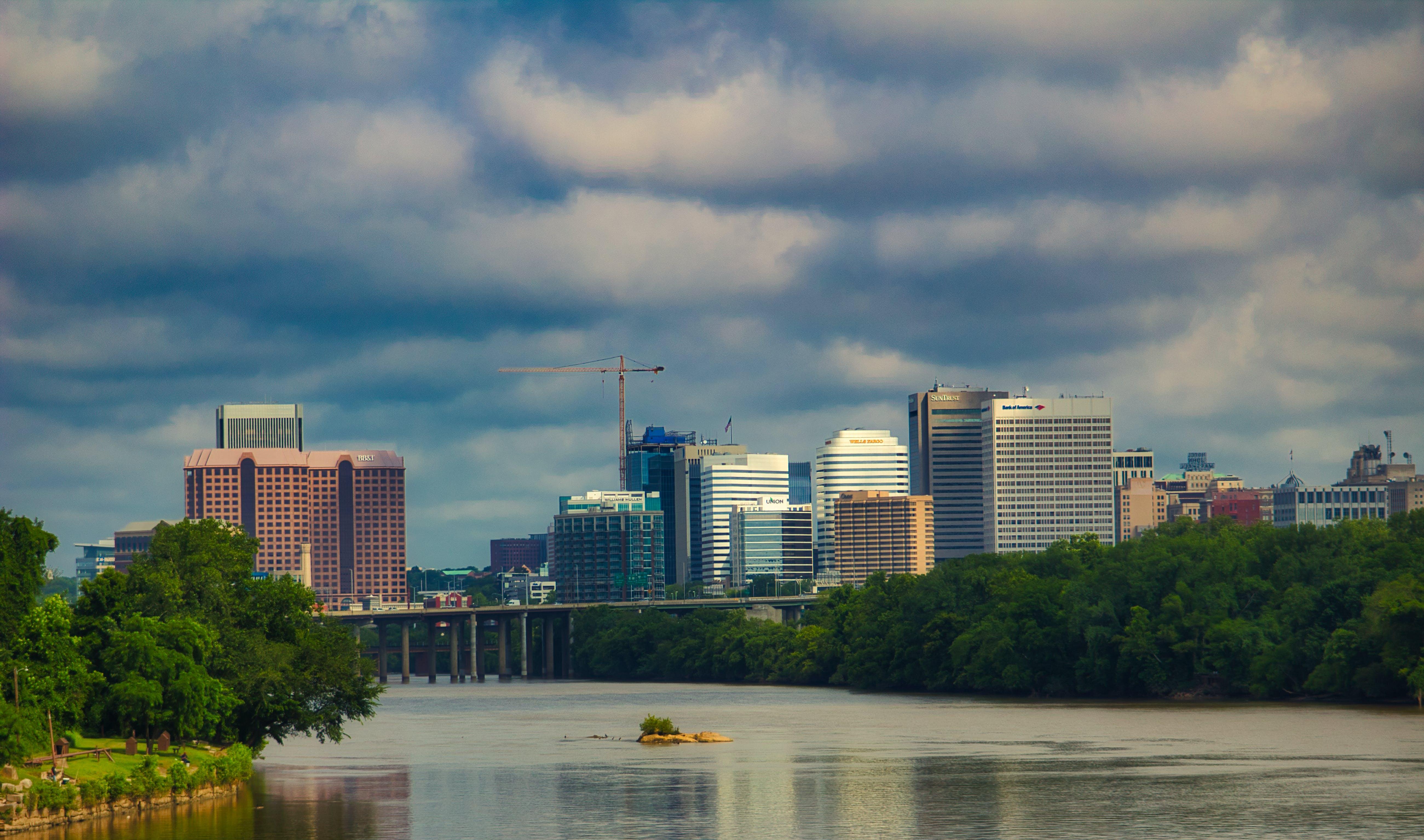 Free stock photo of Richmond, river, skyline