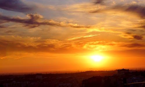Ingyenes stockfotó aranysárga, felhős ég, háttér témában