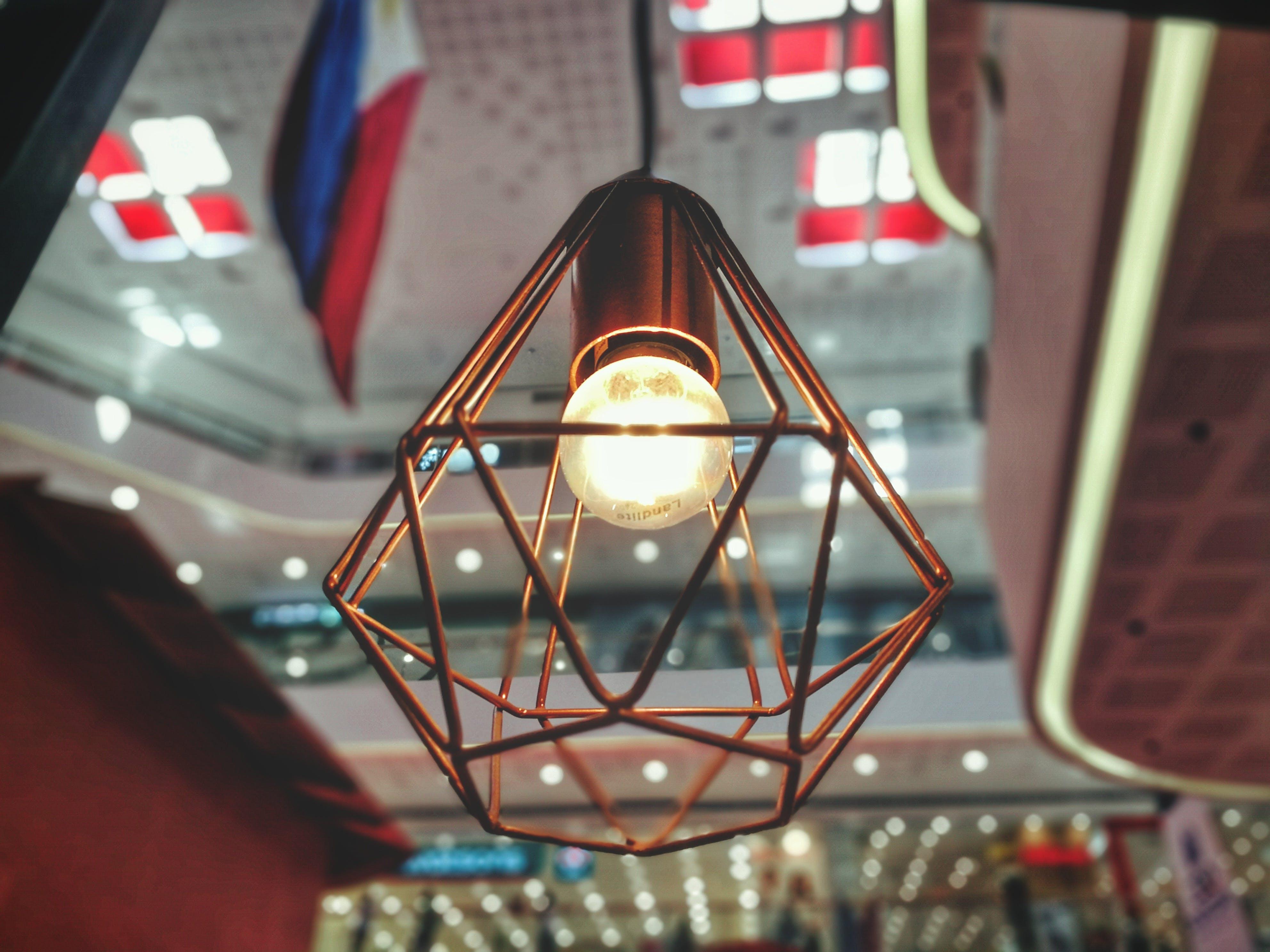 Free stock photo of light, lighting, bulb, polygon