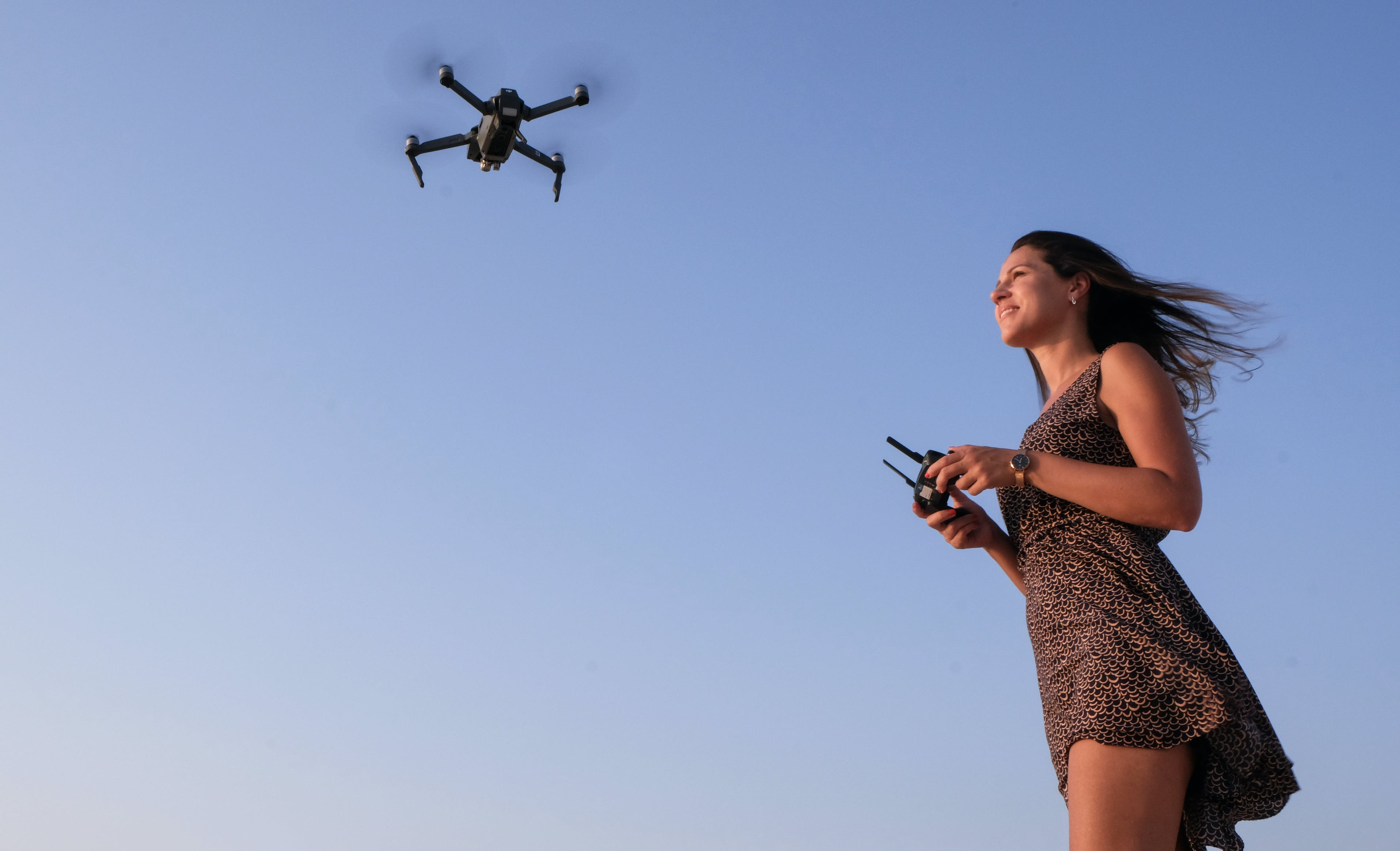 Woman Playing Drone