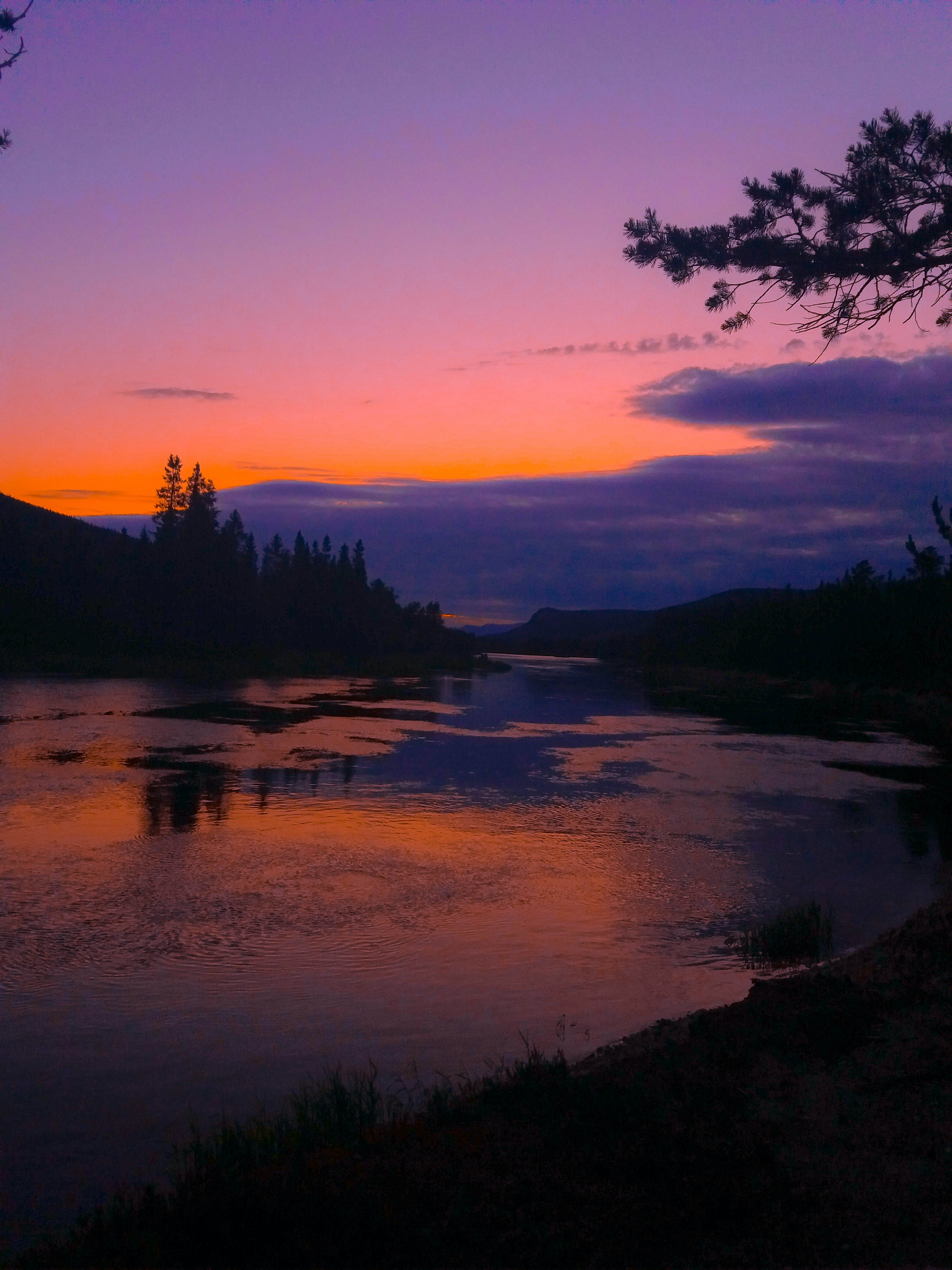Free stock photo of #landscape #sunset #river #norway #sky #clouds