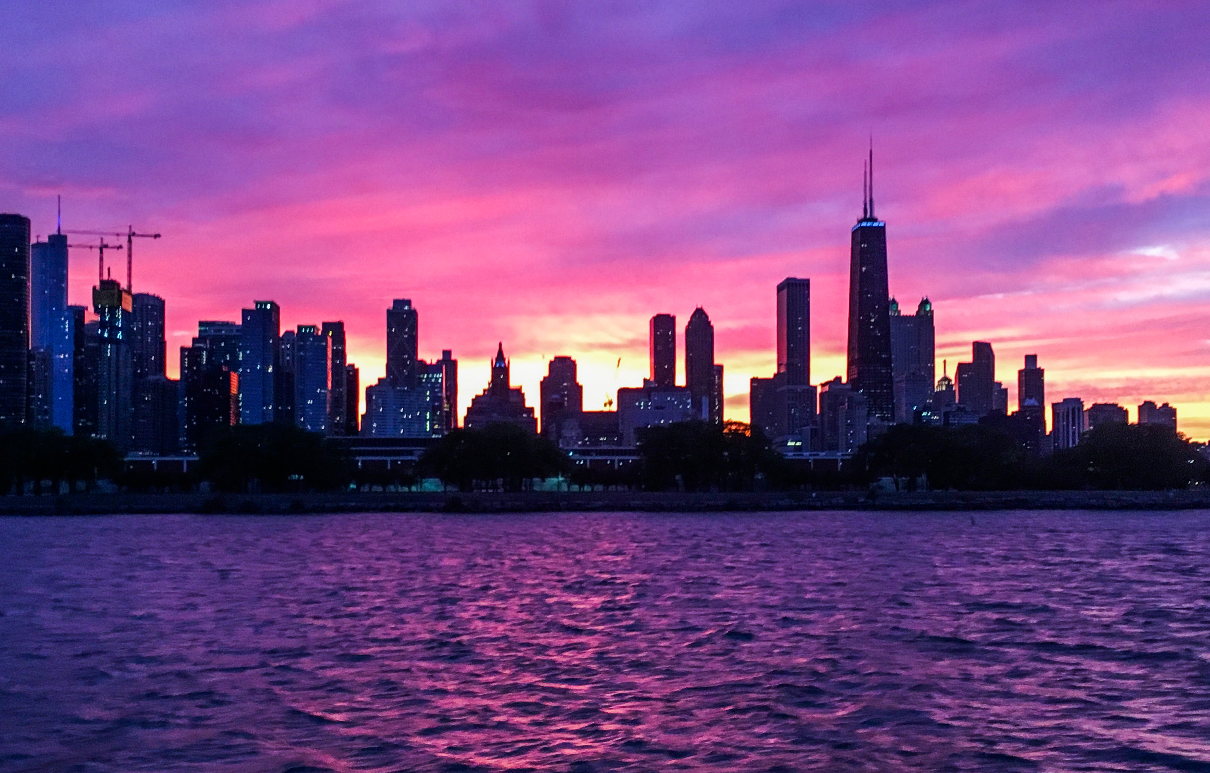 of beautiful, boat, chicago, city