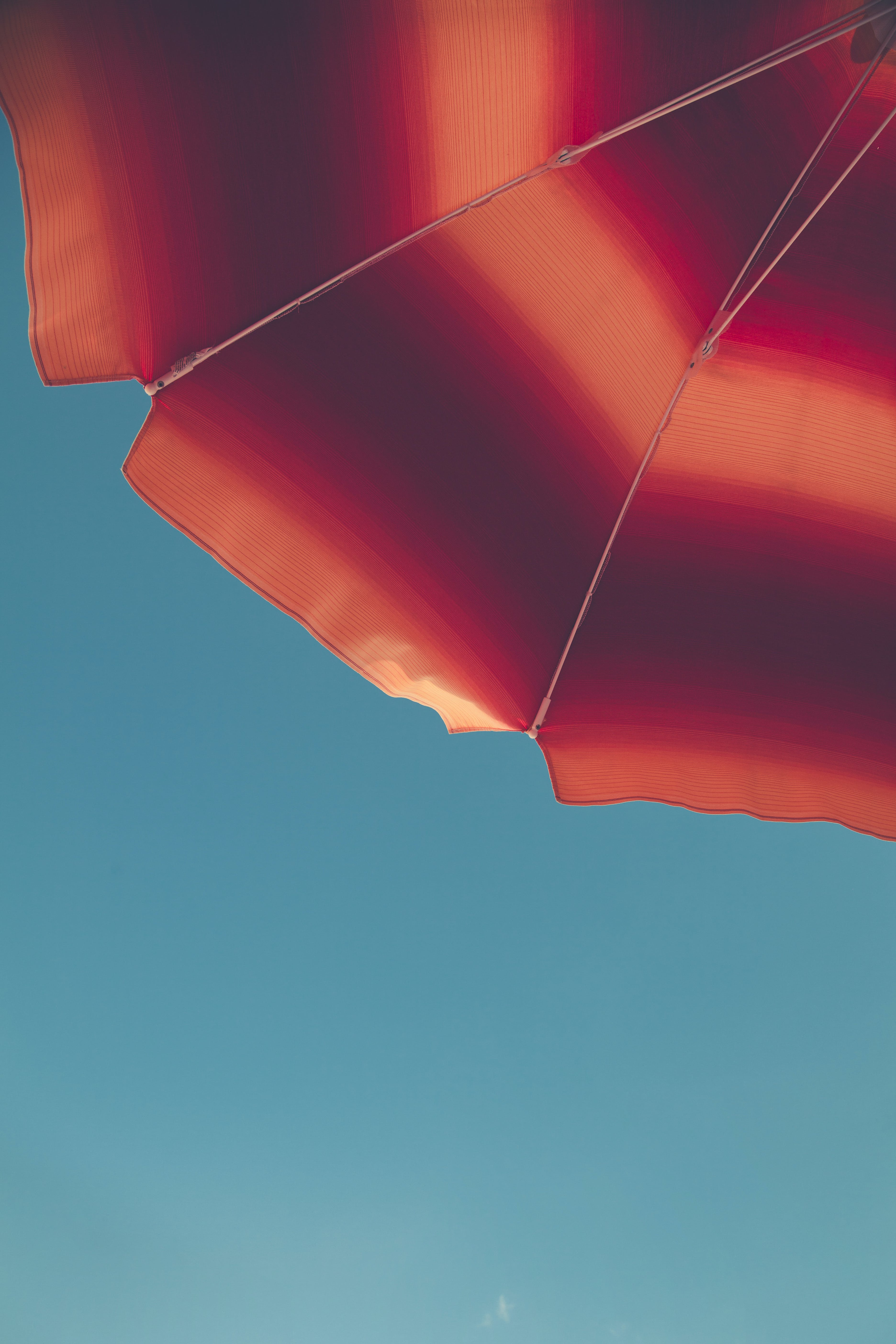 Red and Orange Umbrella