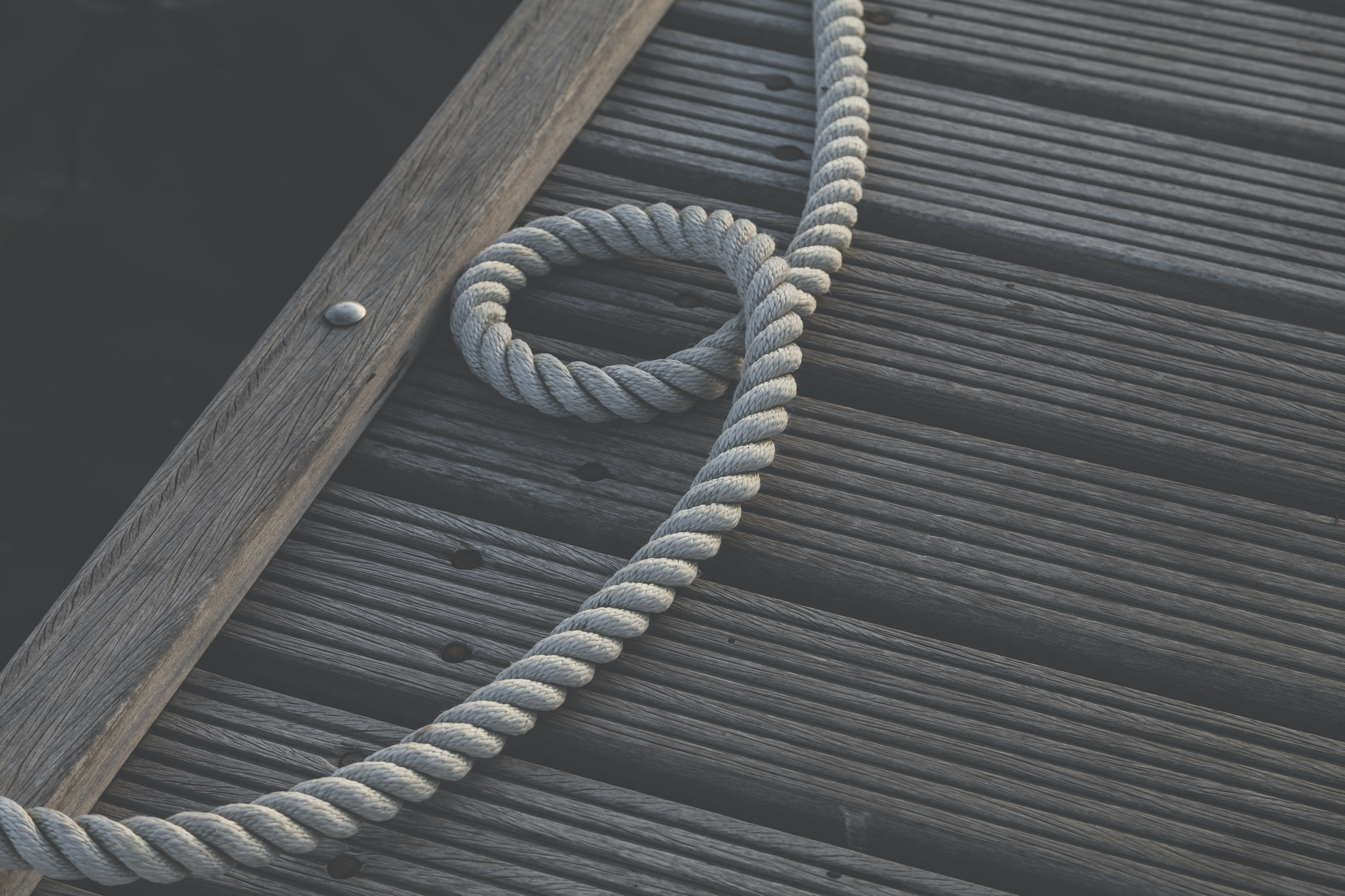 Rope on Wooden Dock