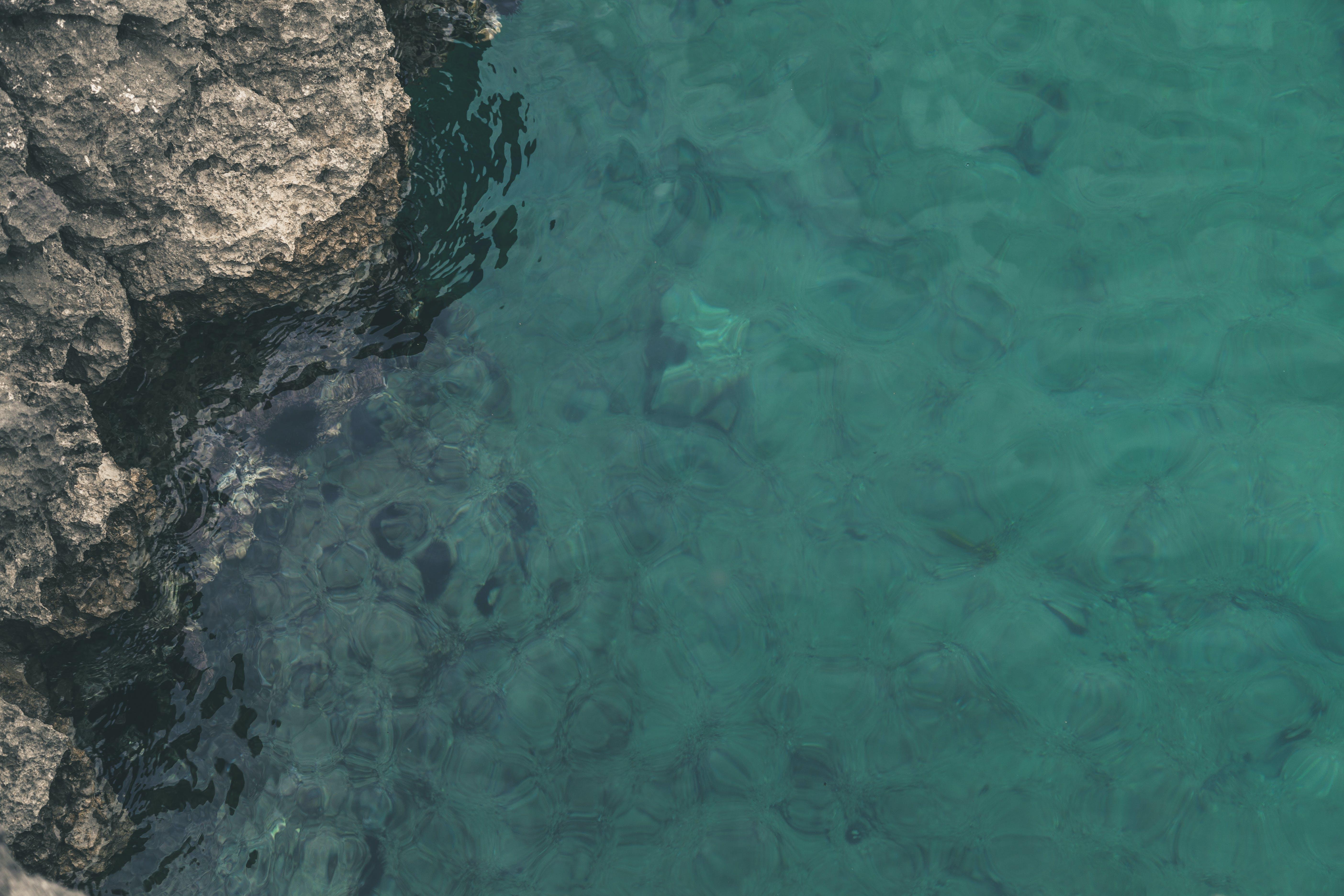 Ocean Beside Stone