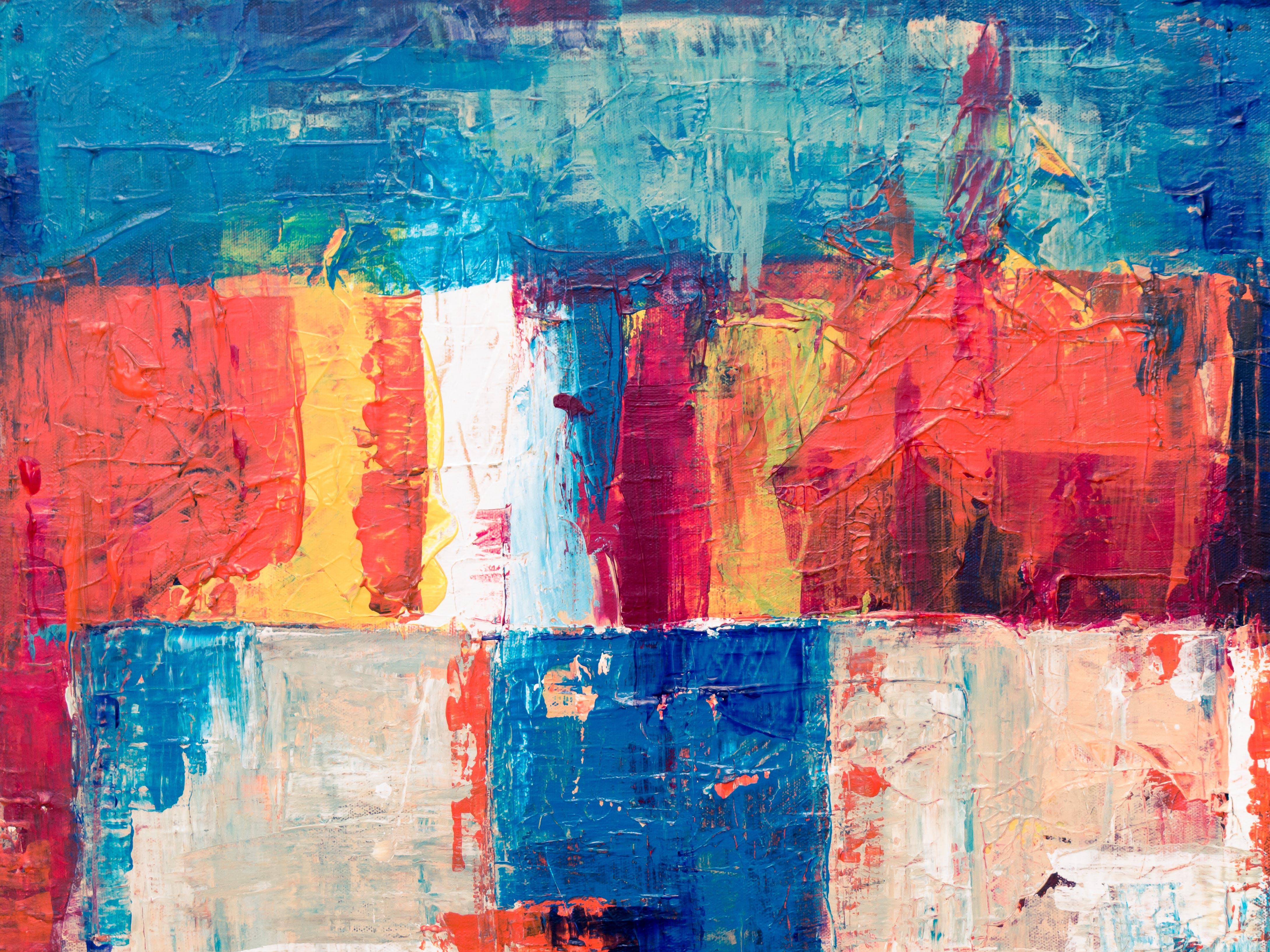 akrilik, akrilik boya, artistik, boya içeren Ücretsiz stok fotoğraf