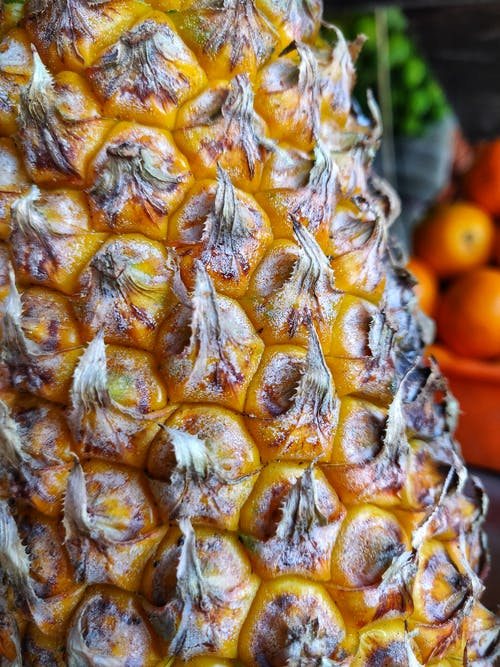 Бесплатное стоковое фото с ананасы, текстура, фрукты