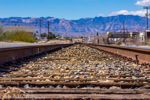 Darmowe zdjęcie z galerii z góry, tor kolejowy