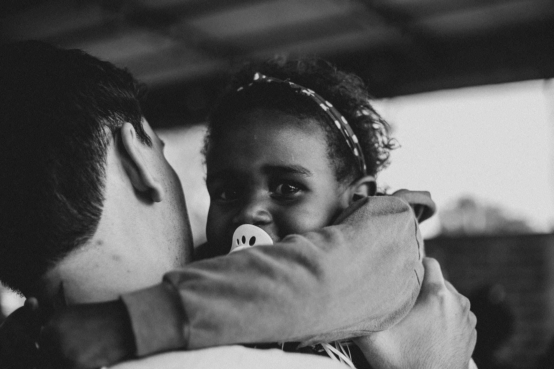 Free stock photo of adoption, afro, b&w, black and white