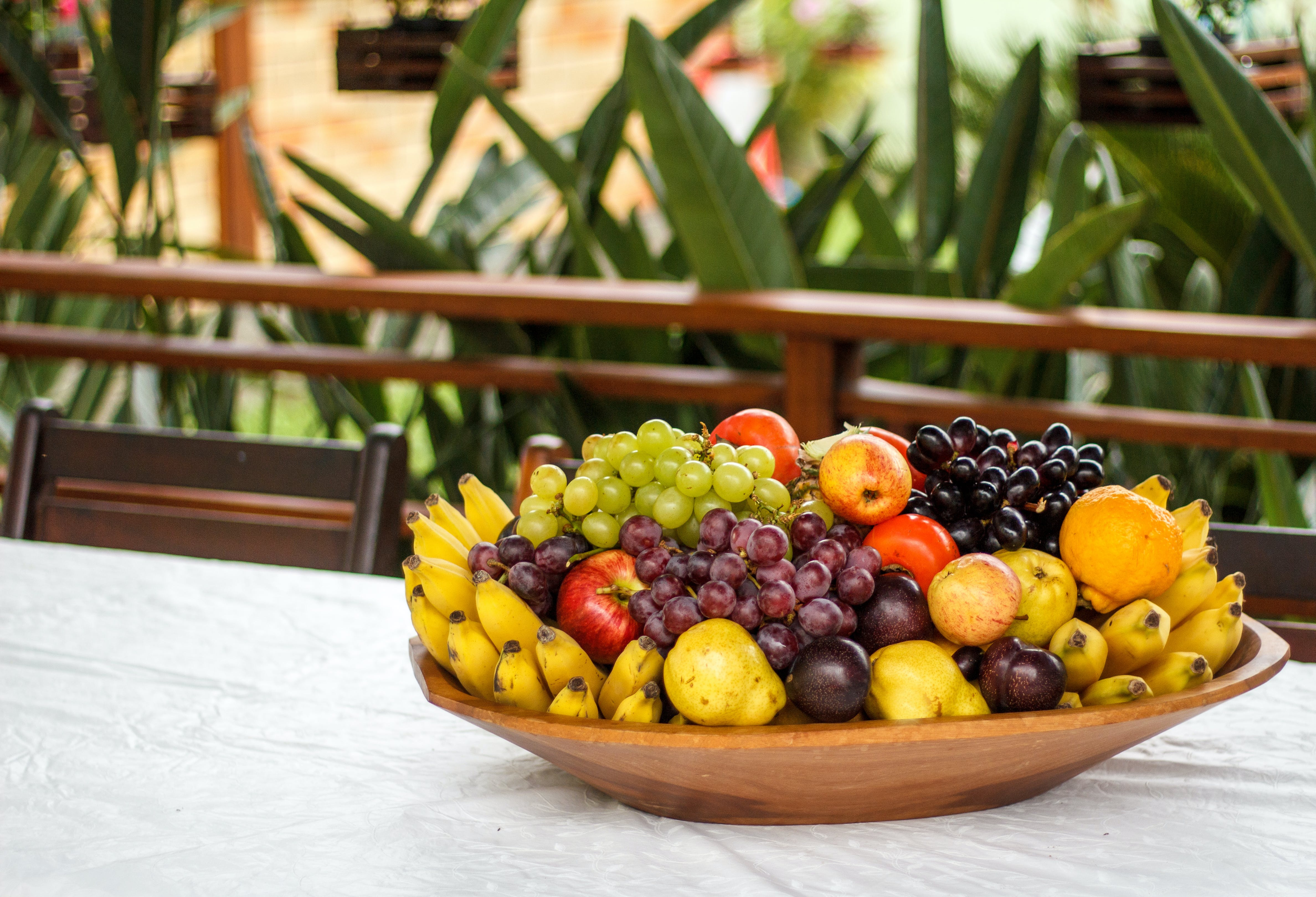 Variety Fruits on Brown Tray
