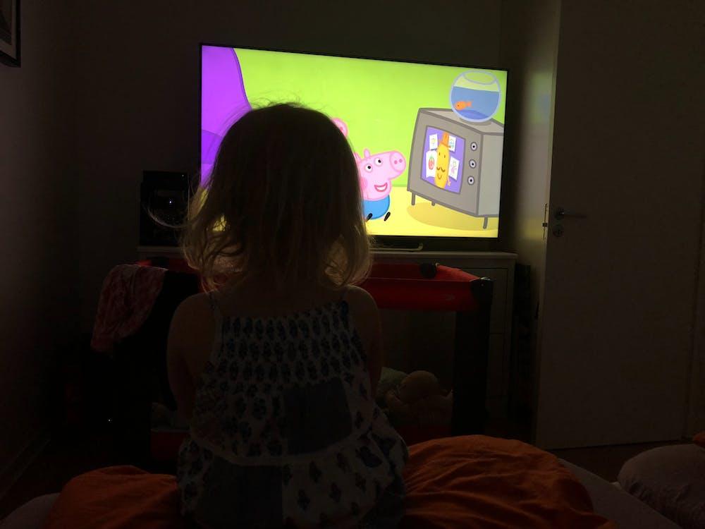 テレビを見ている