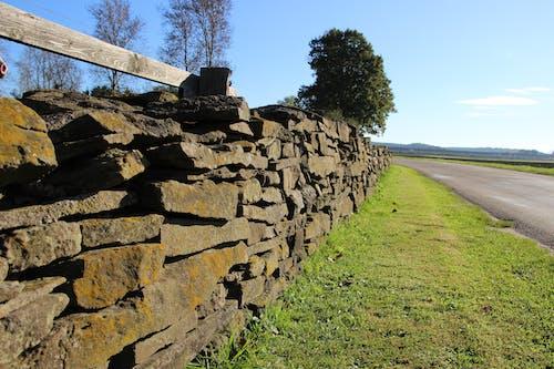 Základová fotografie zdarma na téma horizont, kamenné stěny, kameny, modrá obloha