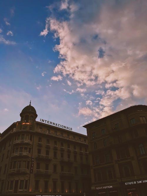 Бесплатное стоковое фото с Администрация, архитектура, башня, вечер