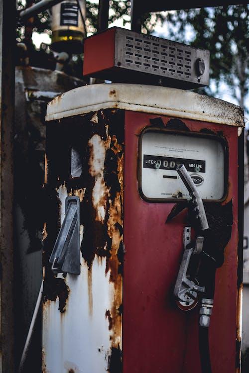 Kostenloses Stock Foto zu benzinpumpe, düse, industrie, retro
