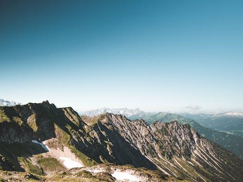 冒險, 冬季, 夏天, 山 的 免费素材照片