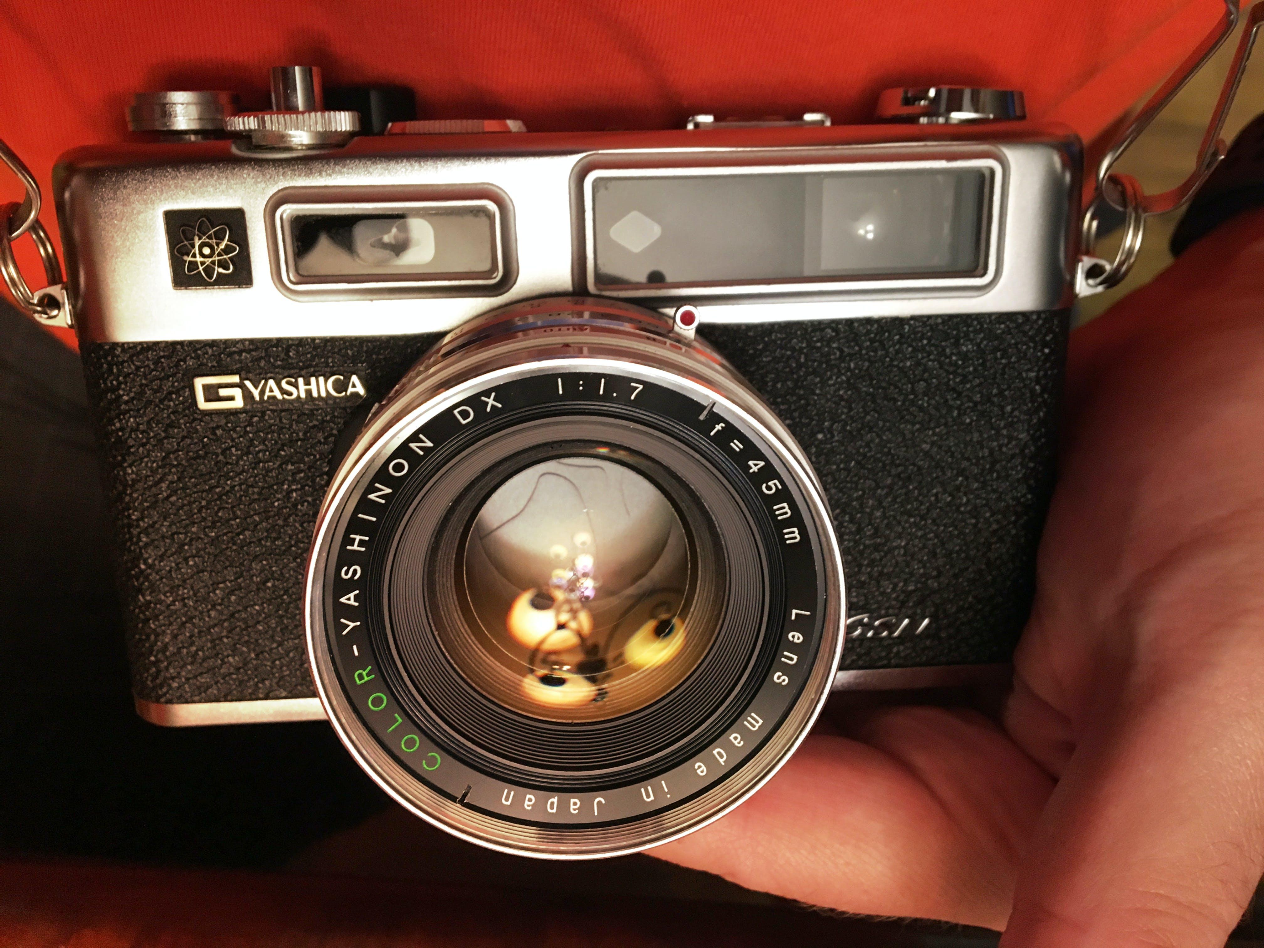 Free stock photo of analog camera, camera, film photography, lens