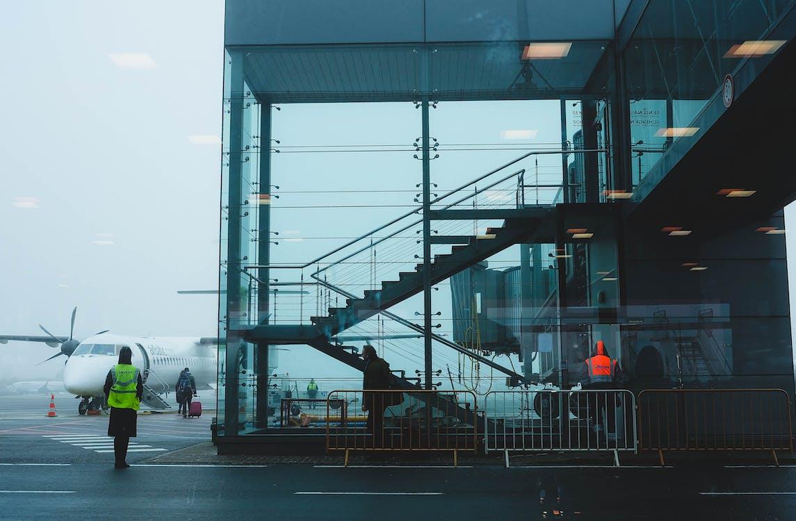 arkitektur, asfalt, barriere
