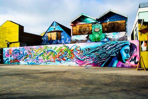 Fotobanka sbezplatnými fotkami na tému architektúra, budova, farba, graffiti