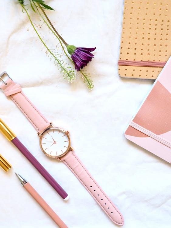armbåndsur, blomst, blomstrende