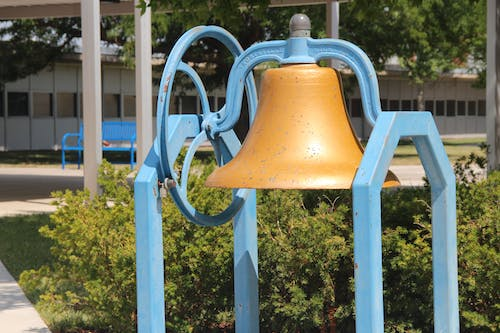 Free stock photo of bell, park, school, school bell
