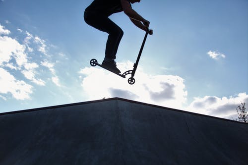 Free stock photo of park, scooter, skate, sky