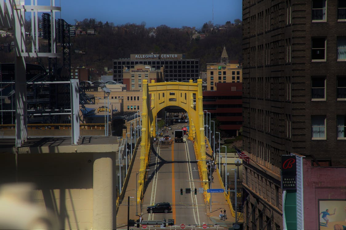 bridge, downtown, pittsburgh