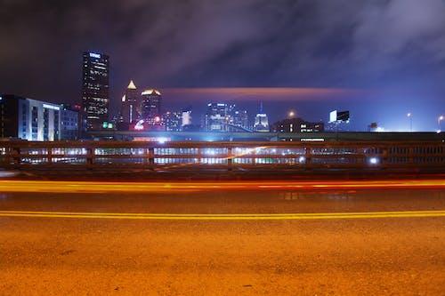 Free stock photo of city, cityscape, night, nightlife