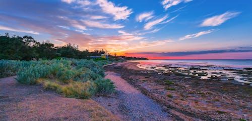 모래, 썰물, 일몰, 해변의 무료 스톡 사진
