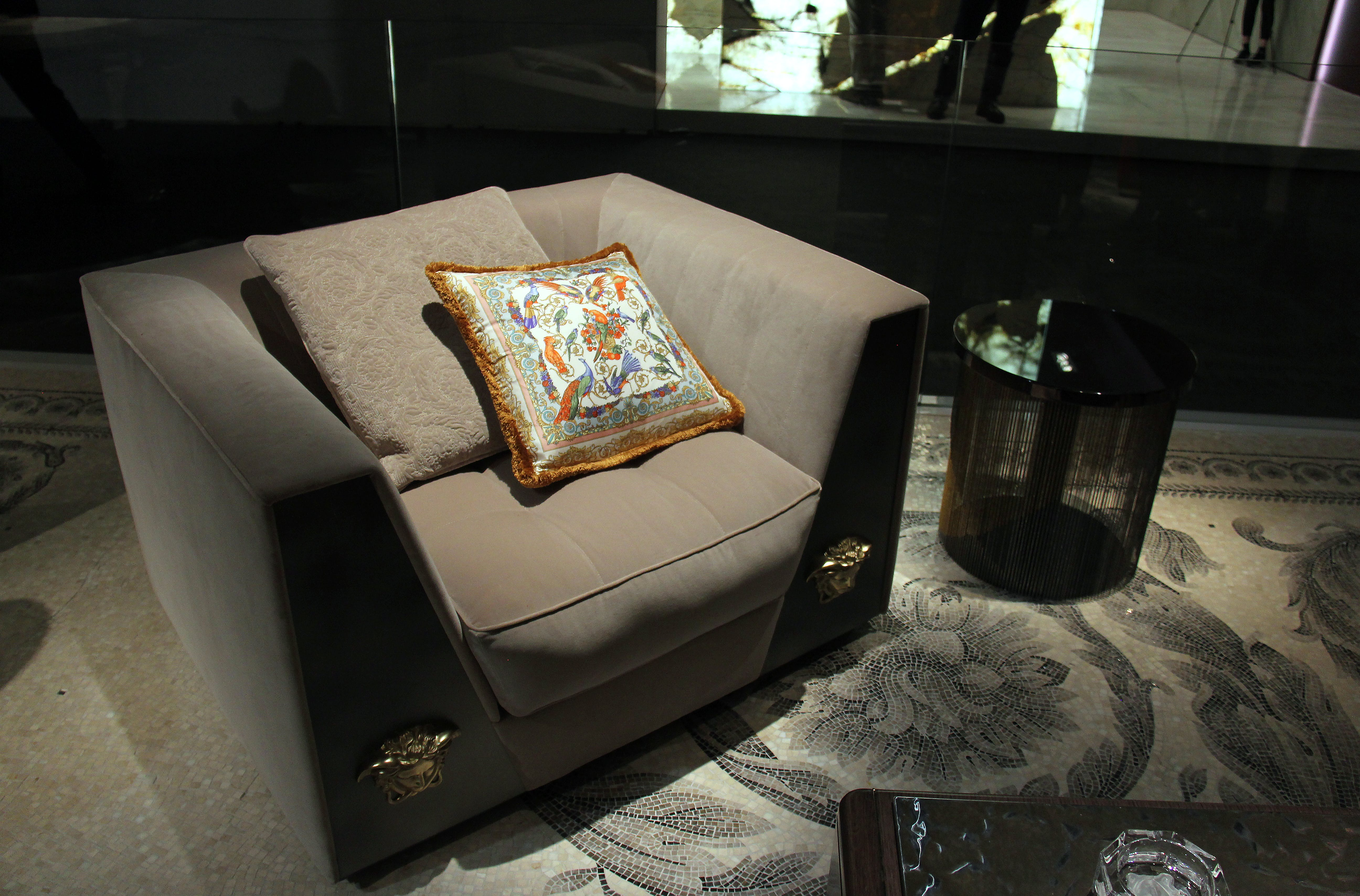 Two Throw Pillows on Top of Sofa Chair