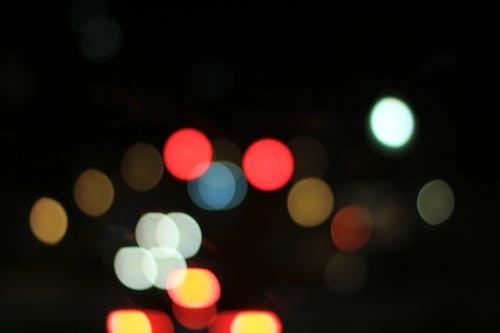 Kostnadsfri bild av bokeh bubblor, natt bokeh, nattetid, nattid
