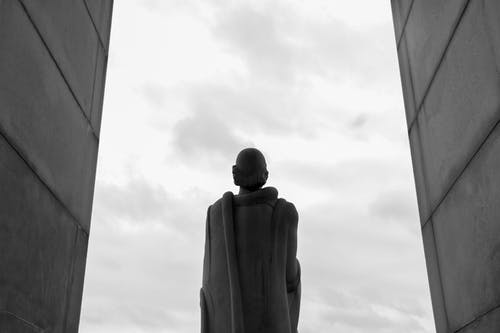 Free stock photo of b&w, black and white, black and white statue, city statue