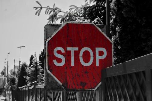Бесплатное стоковое фото с дорога, дорожный указатель, стоп, улица