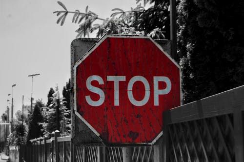 Foto stok gratis berhenti, jalan, rambu lalulintas