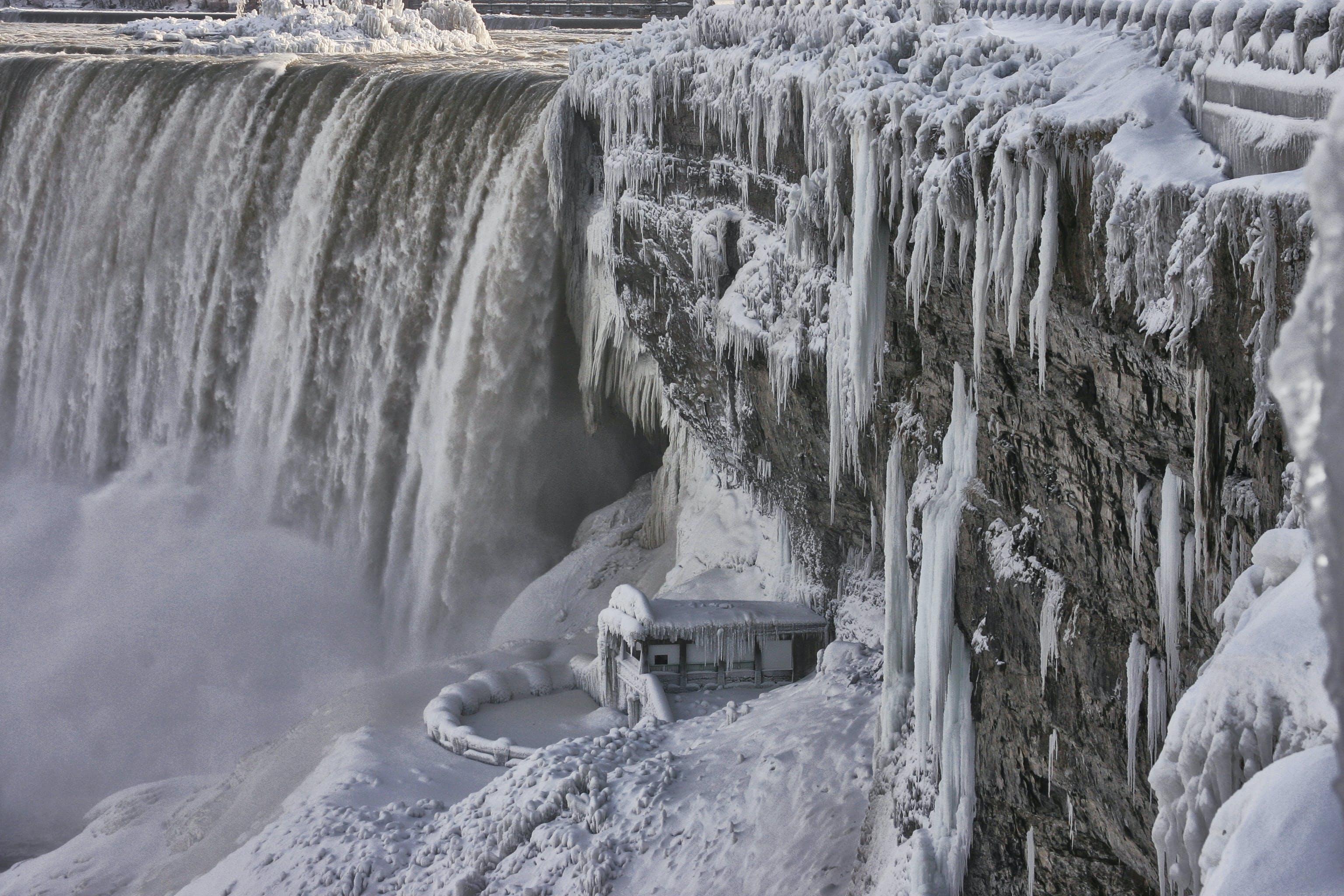 Free stock photo of iice, water, waterfall