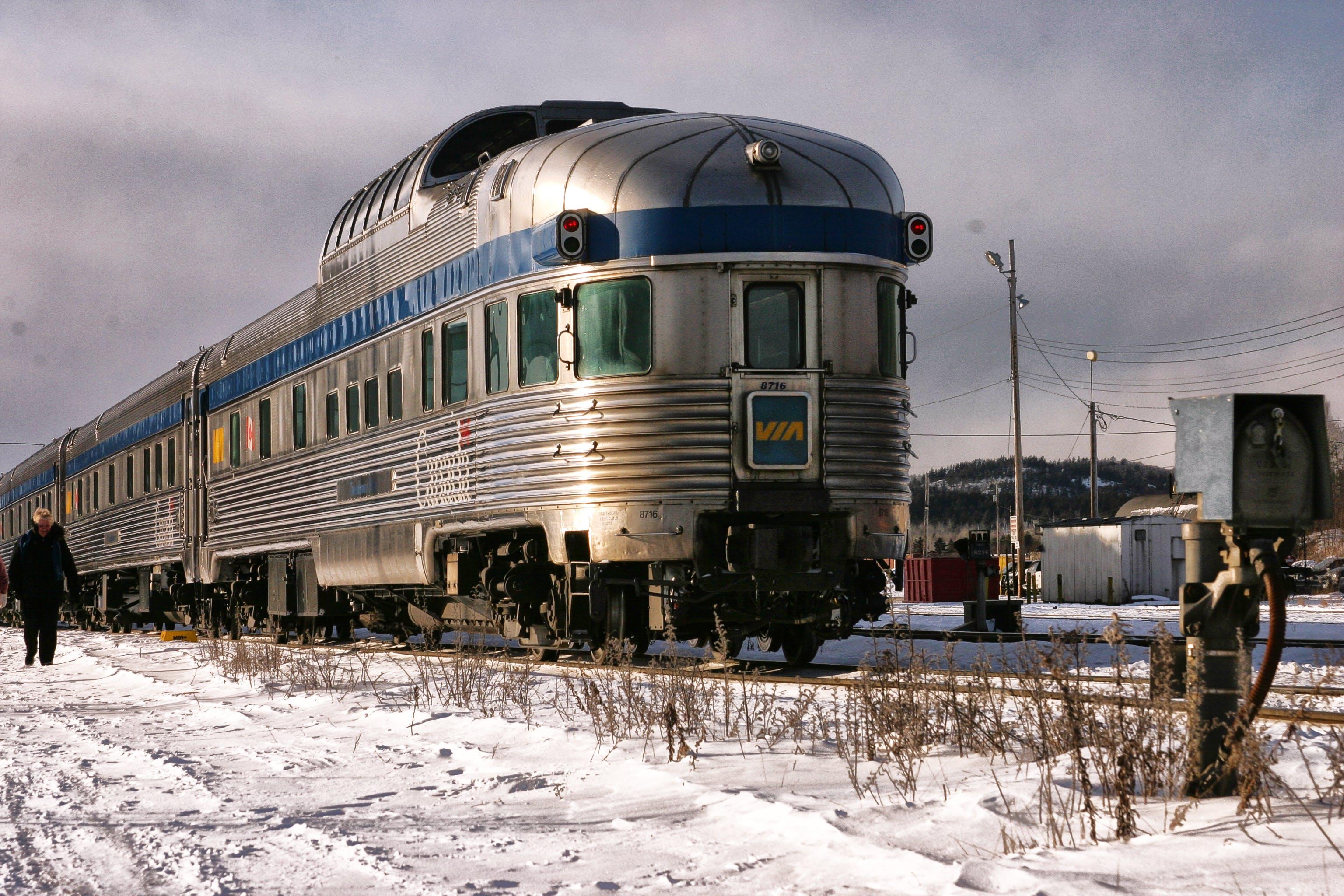 Free stock photo of metallic, silver, train