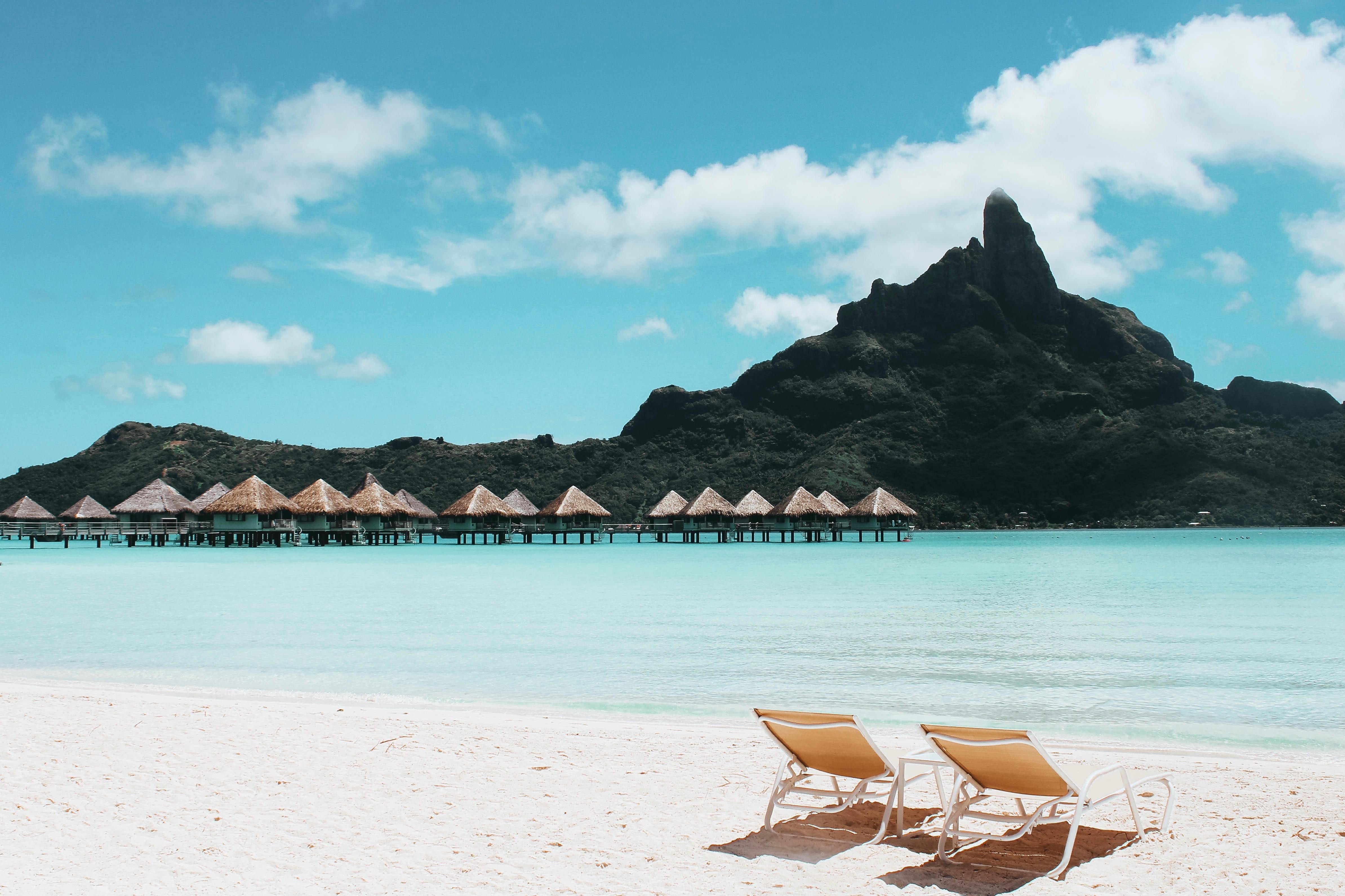 Beach Chairs Free Stock Photo