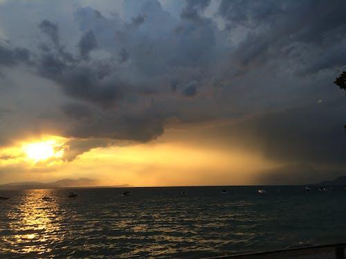 Imagine de stoc gratuită din Italia, Lacul Garda, lazise, nori
