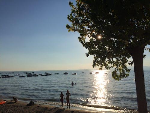Imagine de stoc gratuită din apus, bărci, înot, Italia