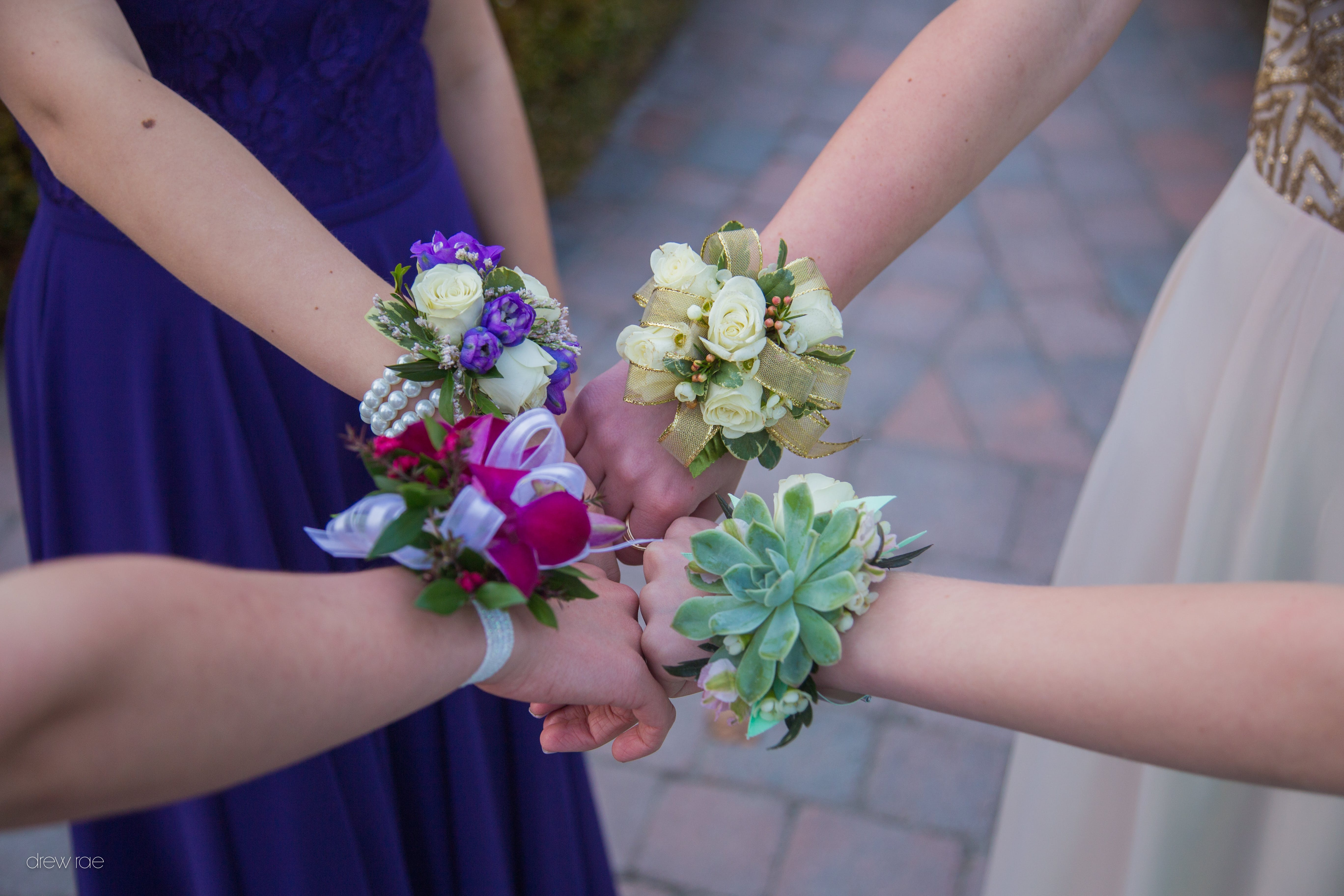 Free stock photo of arms, corsages, dance, girls