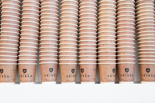 Free stock photo of coffee, coffeecups, decor, papercups