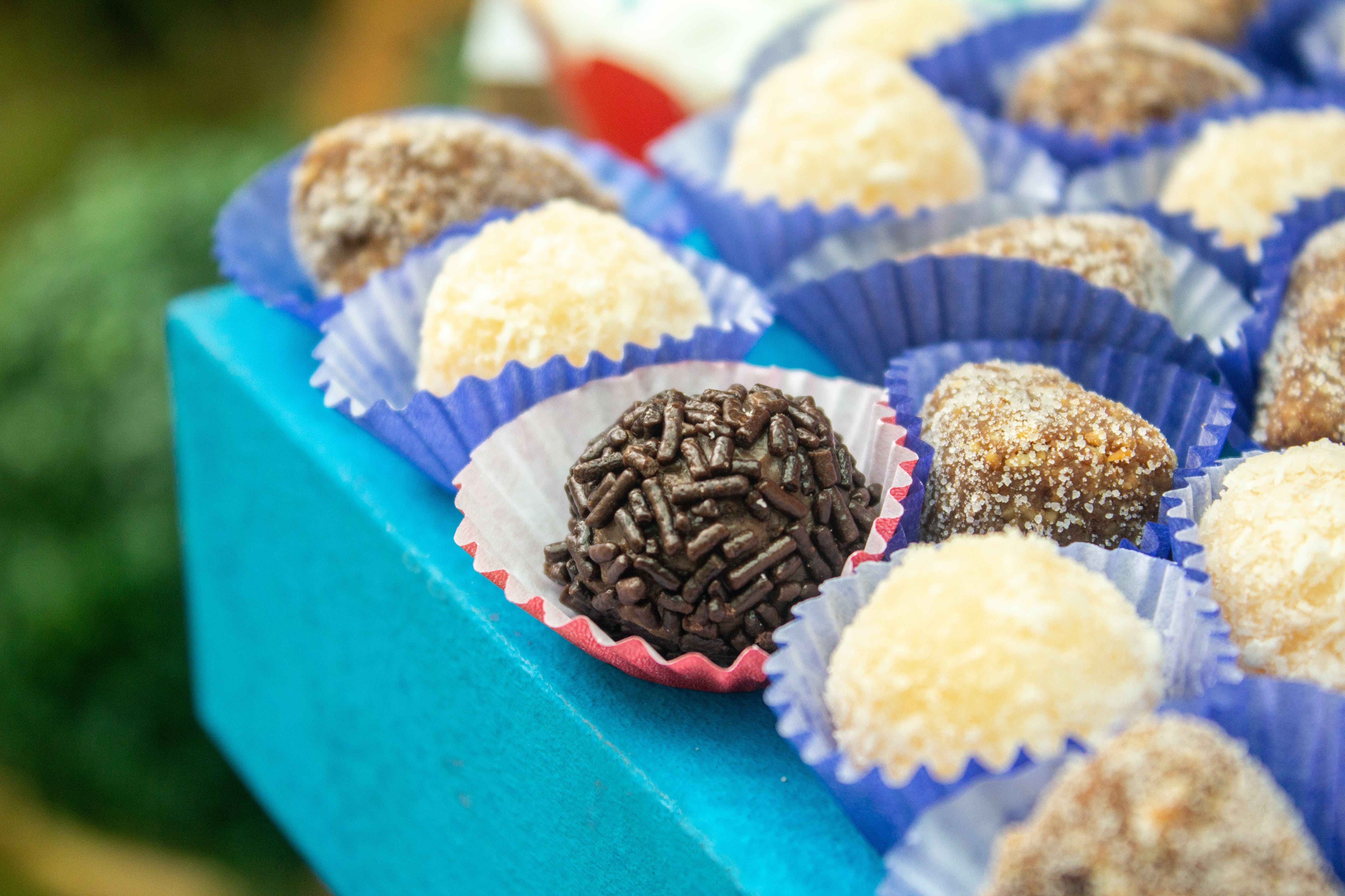 Free stock photo of candy, chocolates, brigadeiro, party candy