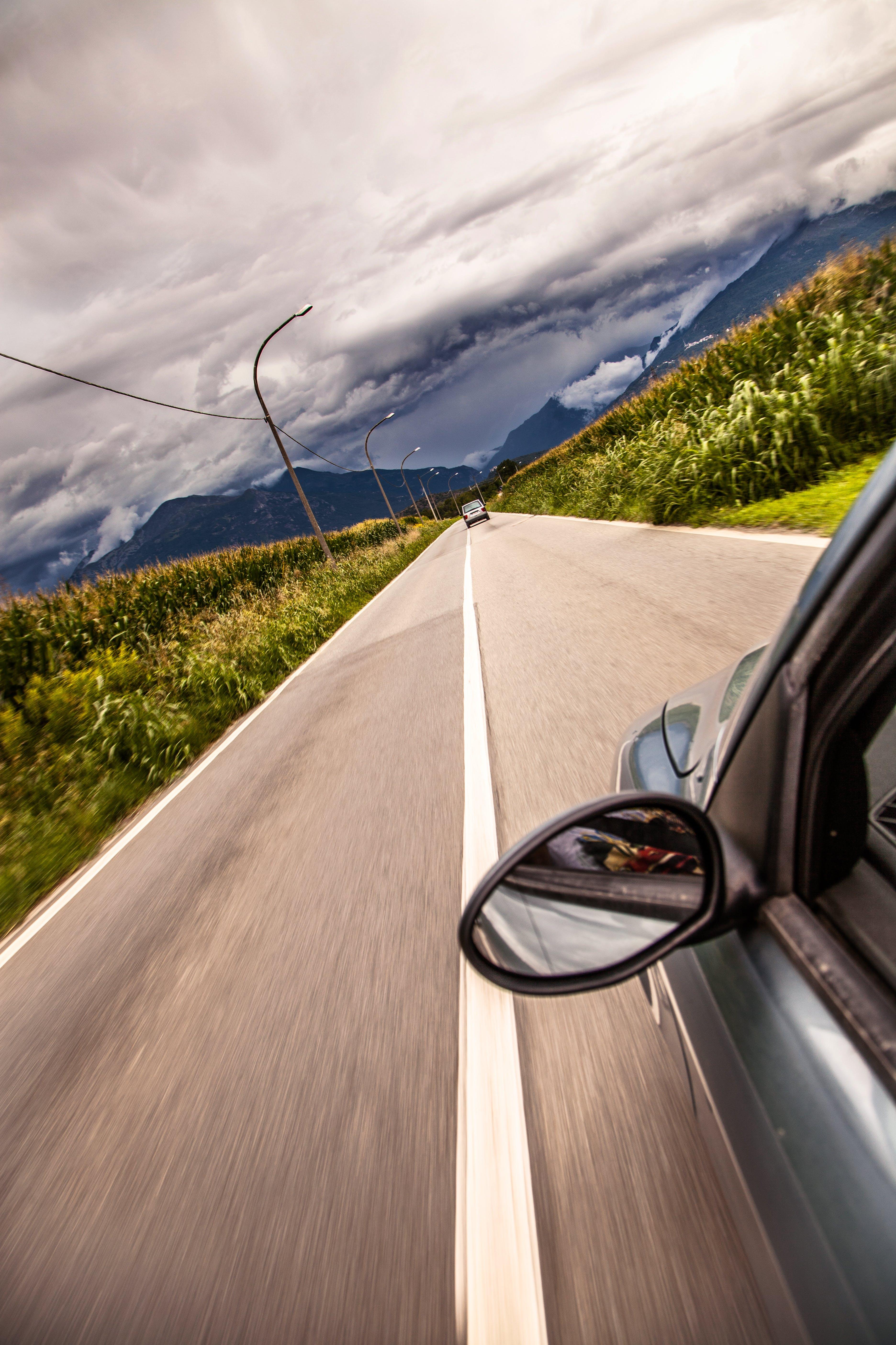 car, driving, road