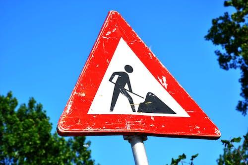 交通標誌, 修路, 即將推出, 安全 的 免費圖庫相片