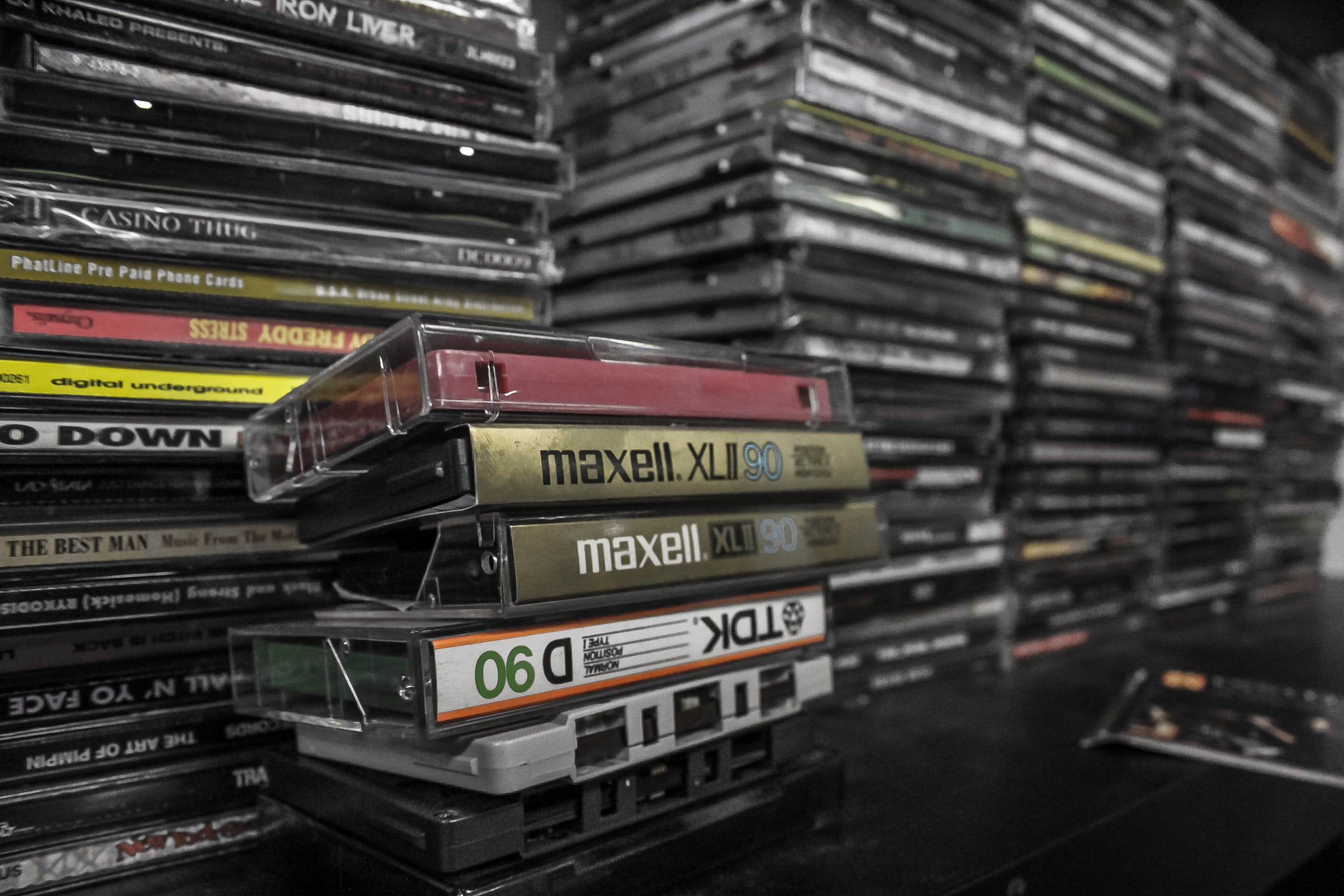 Free stock photo of audio, cassettes, cds