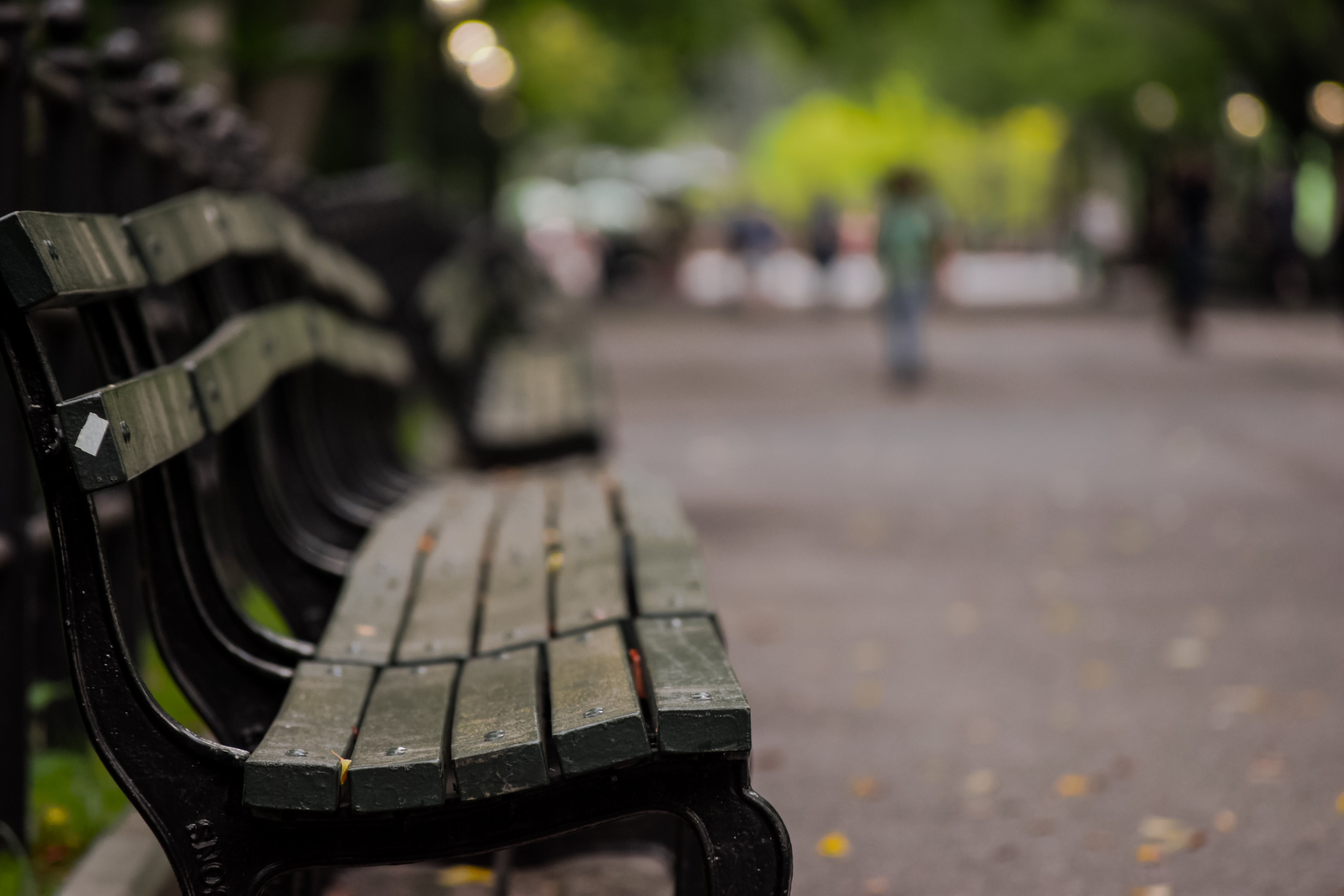 Selective Focus Photography of Brown Wooden Bench