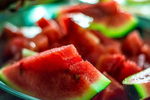 Selective Focus Photography of Sliced Watermelon