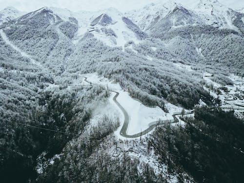 Ingyenes stockfotó csúcs, domb, drón, ég témában