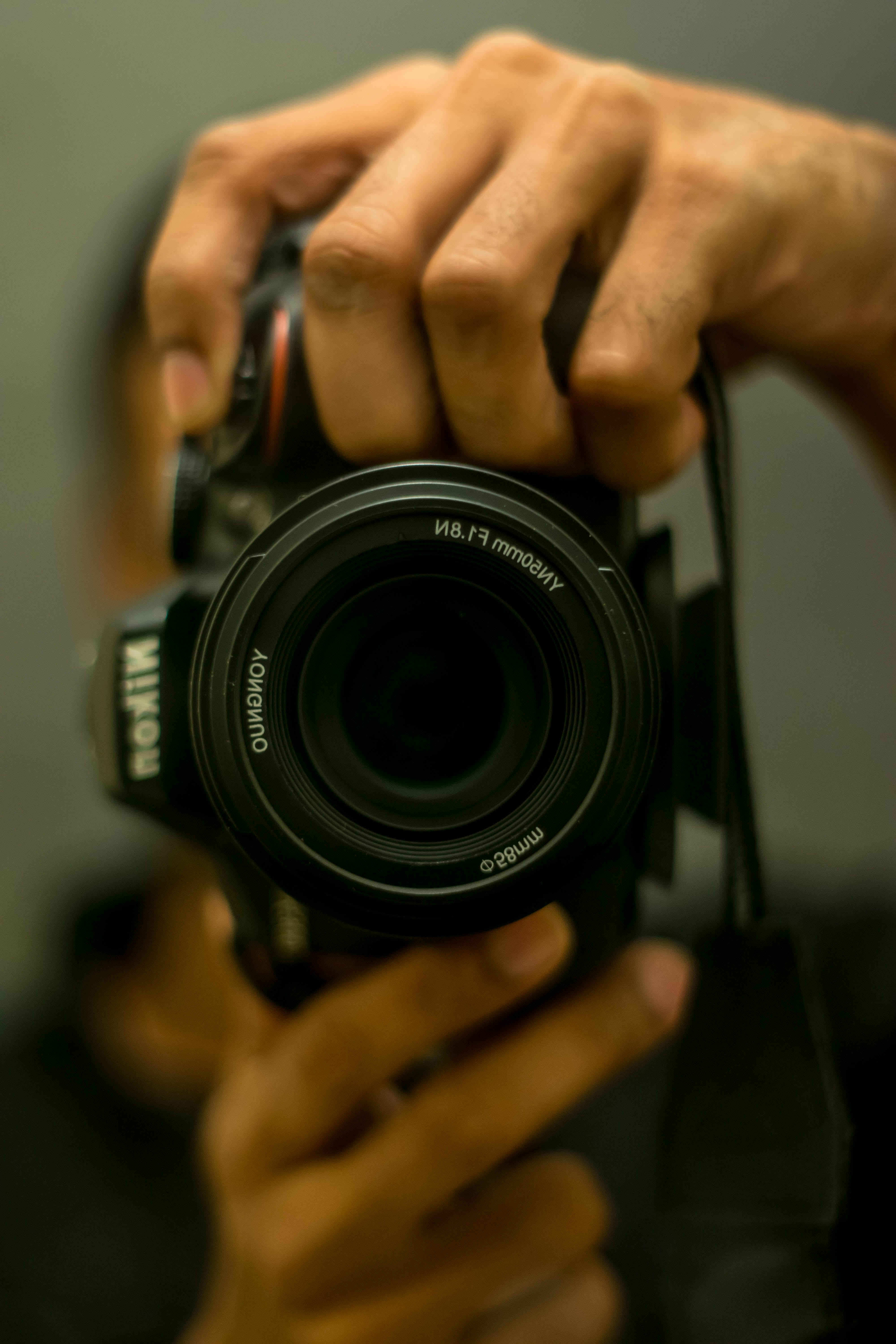 Free stock photo of red, camera, dslr, mirror